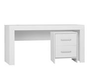 Pinio Calmo biurko z kontenerkiem białe. 15% taniej do 30 kwietnia.