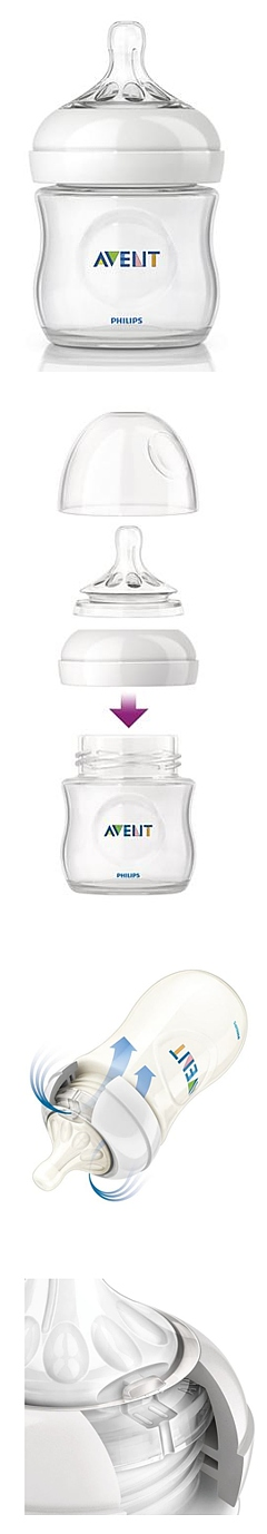 Avent - Butelka 125ml 0% BPA Natural