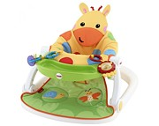 Fisher Price Giraffe CMX 43 Siedzisko Sit-Me-Up Floor Seat with Tray