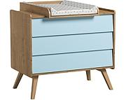 Baby Vox Vintage komoda 3 szuflady z przewijakiem lite drewno
