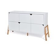 Bellamy Lotta komoda 6 szuflad / kolor biały / Kurier gratis przy przedpłacie
