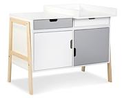 Klupś Hugo komoda z przewijakiem przekształcana w biurko i szafkę kolor biały/szary.