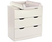 Tomi Komoda 3 szuflady z przewijakiem / kolor Biały