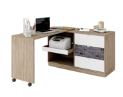 LENART Tecto TE-09 - komoda z wysuwanym biurkiem