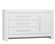 Pinio Calmo komoda duża z przewijakiem (3 szuflady z drzwiami) kolor biały. 15% taniej do 30 kwietnia.