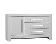 Pinio Calmo komoda duża z przewijakiem 3 szuflady z drzwiami kolor szary. 15% taniej do 30 kwietnia.