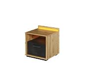 Lenart Qubic szafka nocna z szufladą i oświetleniem QB-10
