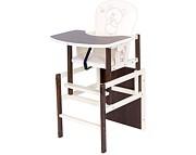 Nowość ! Drewex  Krzesełko do karmienia  Antoś Miś i Motylek  orzech / ecru
