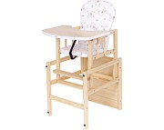 Nowość ! Drewex  Krzesełko do karmienia  Antoś Misie sosna