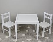 Drewex zestaw stolik + 2 krzesełka /biały.