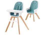 WYPRZEDAŻ Kinderkraft Tixi Krzesełko 2w1 kolor turquoise/ WYSYŁKA 24H