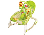 Fisher Price Zielony fotelik-bujaczek Newborn-to-Toddler Portable Rocker (0 - 18kg) / BCD28