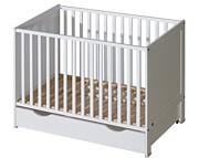 ATB Basic łóżeczko z szufladą 120x60 kolor biały Kurier gratis przy przedpłacie