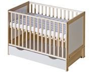 ATB Basic łóżeczko z szufladą 120x60 kolor brzoza Kurier gratis przy przedpłacie