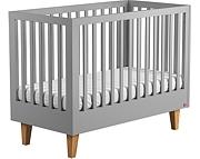Baby Vox Lounge łóżeczko 120x60 cm z litego drewna / kolor grafit