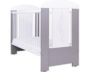 Nowość ! Drewex Gwiazdki łóżeczko 120x60 cm / srebrno-białe.