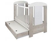 Drewex Miś Cortona PREMIUM łóżeczko 120x60cm z szufladą i funkcją tapczanika.