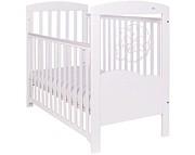 Nowość Drewex Miś na chmurce podświetlane łóżeczko 120x60 opuszczany bok / białe.