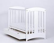 Nowość ! Drewex Natalia łóżeczko 120x60 white z szufladą