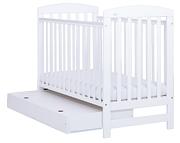 Nowość Drewex Olek łóżeczko 120x60 z szufladą / białe.