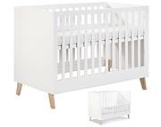 Klupś Noah łóżeczko 120x60cm z barierką / kolor biały.