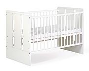 Klupś Paula Biała łóżeczko 120x60 / kolor biały.