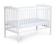 Klupś Oliver białe łóżeczko 120x60cm.