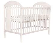 Tomi XIII Łóżeczko niemowlęce 120x60 / kolor Transparentny biały / KURIER GRATIS PRZY PRZEDPŁACIE