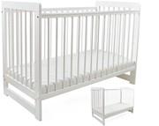 Tomi XXI Łóżeczko niemowlęce/tapczanik 120x60  / białe / KURIER GRATIS PRZY PRZEDPŁACIE