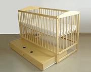 Tomi V Łóżeczko niemowlęce 120x60 z szufladą / kolor sosna / KURIER GRATIS PRZY PRZEDPŁACIE