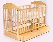 Tomi XIV Łóżeczko niemowlęce 120x60 z szufladą / kolor sosna / KURIER GRATIS PRZY PRZEDPŁACIE