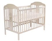 Tomi XIV Łóżeczko niemowlęce 120x60 / kolor Transparentny Biały / KURIER GRATIS PRZY PRZEDPŁACIE