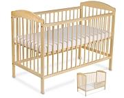 Tomi XV Łóżeczko niemowlęce 120x60 z funkcją tapczanika / sosna / KURIER GRATIS PRZY PRZEDPŁACIE