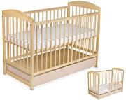 Tomi XV Łóżeczko niemowlęce 120x60 z szufladą i funkcją tapczanika / Sosna / KURIER GRATIS PRZY PRZEDPŁACIE