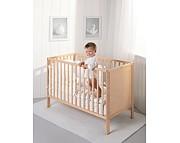 Troll Eco Panel łóżeczko 120x60 z litego drewna / kolor naturalny / Kurier gratis przy przedpłacie