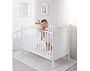Troll Eco Panel łóżeczko 120x60 z litego drewna / kolor biały / Kurier gratis przy przedpłacie