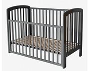 Troll Lux łóżeczko 120x60 z opuszczanym bokiem / kolor seal grey / Kurier gratis przy przedpłacie