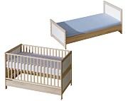 ATB Basic łóżeczko/tapczanik 140x70 kolor brzoza Kurier gratis przy przedpłacie