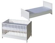 ATB Basic łóżeczko/tapczanik 140x70 kolor biały Kurier gratis przy przedpłacie