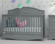 Bellamy Good Night łóżeczko 140x70 z szufladą z funkcją sofy / kolor szary / Kurier gratis przy przedpłacie