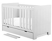 Pinio Calmo łóżeczko 140x70 z szufladą białe. 15% taniej do 30 kwietnia.