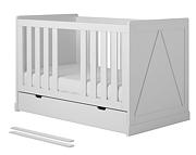 Pinio Marie łóżeczko-tapczanik z szufladą 140x70cm. 15% taniej do 30 kwietnia.