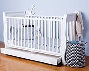 Troll Romantica łóżeczko/tapczanik 140x70 z szufladą z litego drewna / białe / Kurier gratis przy przedpłacie