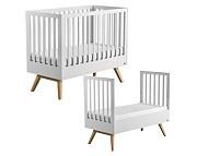 Baby Vox Mitra łóżeczko tapczanik 140x70 cm / kolor biały Kurier gratis przy przedpłacie