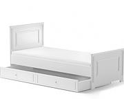 Bellamy Ines łóżko 200x90 z szufladą / kolor biały / Kurier gratis przy przedpłacie