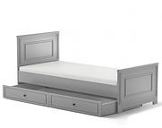 Bellamy Ines łóżko 200x90 z szufladą / kolor szary / Kurier gratis przy przedpłacie