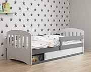 BMS Classic 1 Łóżko parterowe z materacem (160x80cm) / kolor grafit/biały
