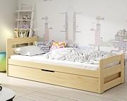 BMS Ernie łóżko parterowe 200x90 cm z materacem (200x90 cm) / kolor sosnowy