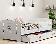 BMS Filip Łóżko parterowe 160x80 z materacem (160x80 cm) / kolor biały