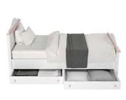 Lenart Luna łóżko 200x90 z materacem bonelowym z 2 szufladami